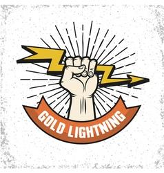 Lightning Logo Emblem vector image