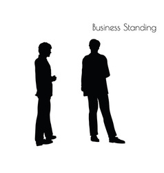 Man in business standing pose vector