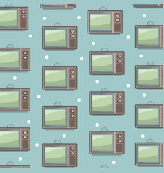 old tv backgrounds icon vector image