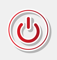 on off switch sign new year reddish icon vector image
