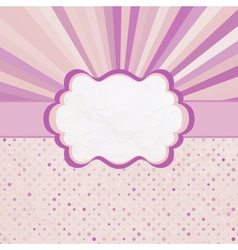 Retro sun burst pattern card vector