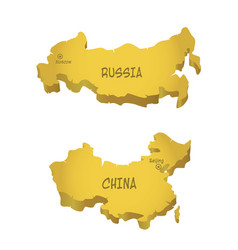 Rf and china maps vector