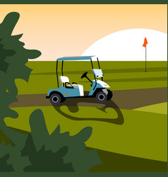 set of elements for the game of golf vector image vector image