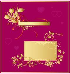 set of valentines decorations vector image vector image