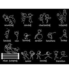 Sports doodle set vector image