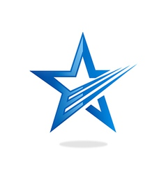 star loop abstract logo vector image vector image