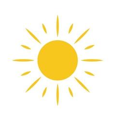 Sun icon light sign isolated vector