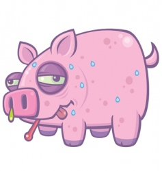 Swine flu pig vector