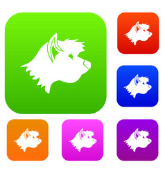 Terrier dog set collection vector
