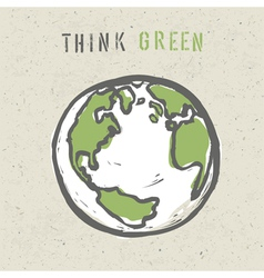 think green poster design vector image