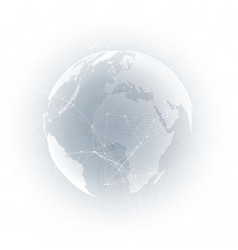 world globe with shadow on gray abstract global vector image vector image