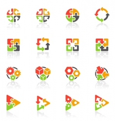 Geometrical logo templates vector
