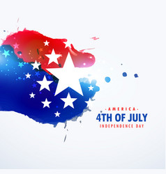 American holiday 4th of july background vector