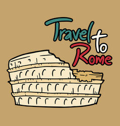 Travel to rome message vector