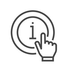 Information mark with hand vector