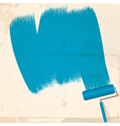 Paint and roller background vector