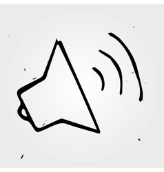 Hand drawn loudspeaker isolated vector