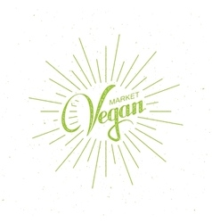 Vegan market sign vector