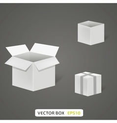 Empty box on a grey background A vector image