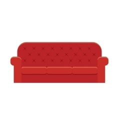 Red leather luxury sofa vector