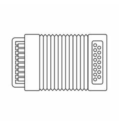 Accordion icon outline style vector