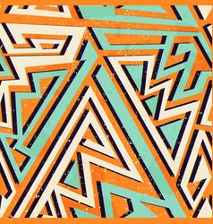 African geometric seamless pattern vector