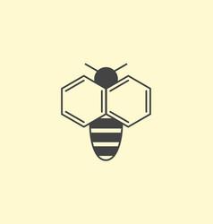 bee logo design insect honey logotype vector image