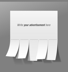 blank advertisement vector image vector image