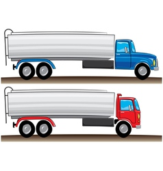 cartoon tanker truck vector image