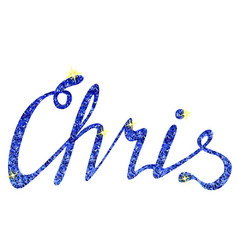 Chris name lettering tinsels vector