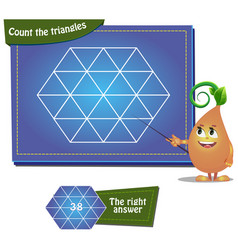 count the squares 5 vector image vector image