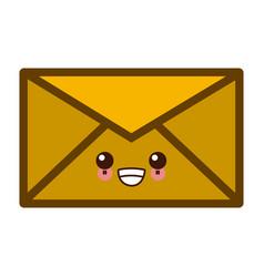 email or mail symbol kawaii cute cartoon vector image