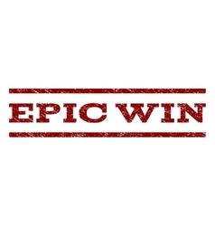 Epic win watermark stamp vector