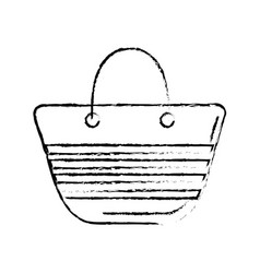 Figure fashion purse to be in the beach vector