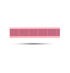 film strip movie icon reel cinema design frame vector image