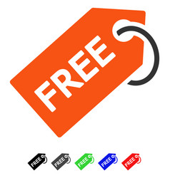 Free tag flat icon vector