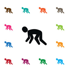 Isolated jogging icon exercise element can vector