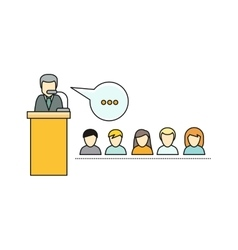 Lecture concept in flat style vector