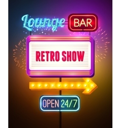 Neon Showing Sign Poster vector image