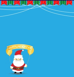 New year background with santa claus vector