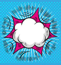 pop art comic speech cloud background vector image