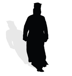Priest silhouette vector