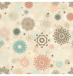 Retro Christmas Snowflake Pattern vector image
