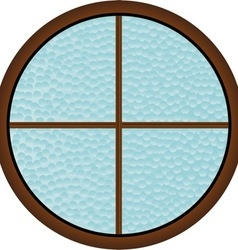Round Window vector image vector image