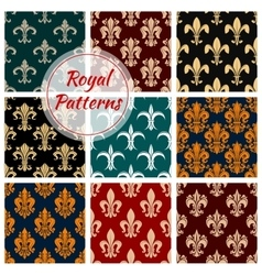 Royal decorative ornate patterns set vector
