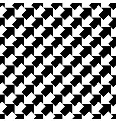 Seamless black and white arrows pattern vector