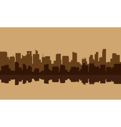 Silhouette of old buildings lined vector image vector image