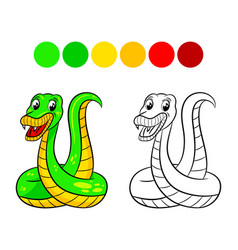 Snake coloring book vector