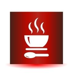 Soup icon button vector