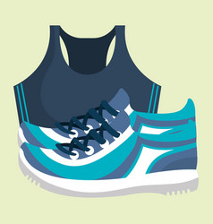 Tennis shoes wellness lifestyle vector